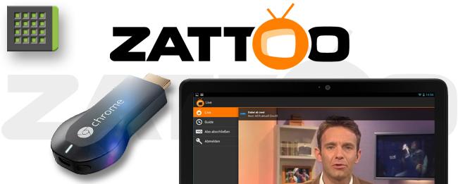 Zattoo mit Chromecast-Support