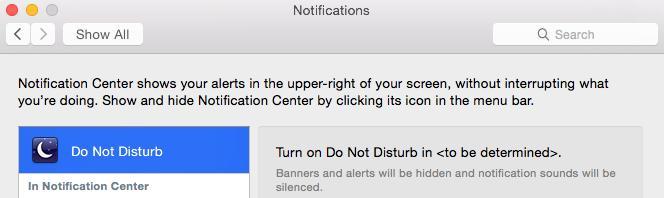 mac OS X 10.10 Yosemite Hinweis auf Kontrollzentrum