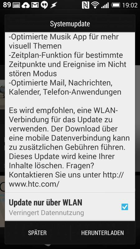 HTC One M7 Sense 6 Update