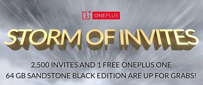OnePlus One Storm of invites