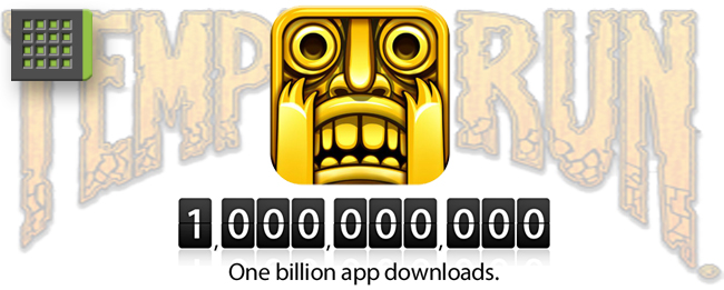 Temple Run mit einer Milliarde Downloads