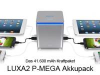 LUXA2 P-MEGA: Ein Akkupack mit 41.600 mAh
