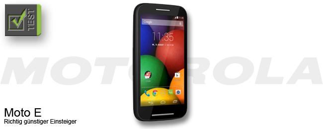 Motorola Moto E Test
