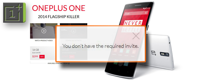 OnePlus One ohne Invite