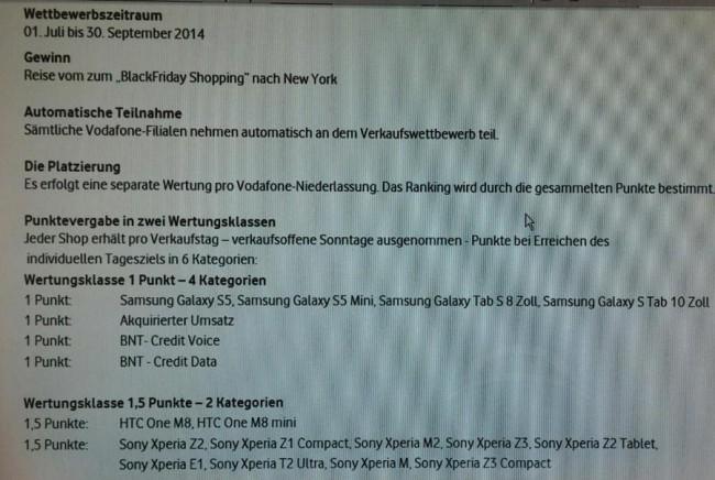 Sony Xperia Z3 bei Vodafone