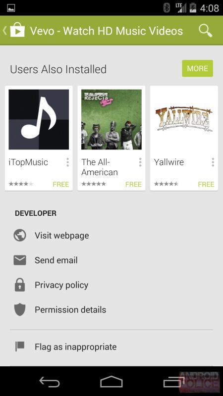 Google Play Store im Material Design