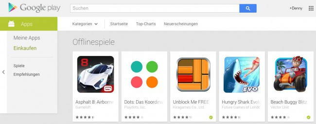 Google Play Offline-Games