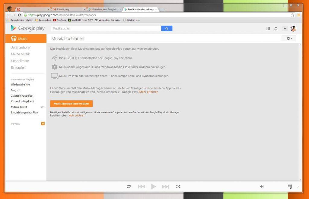 ITunes Musik-Bibliothek Mit Google Play Music Synchronisieren