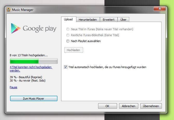 iTunes mit Google Play Music synchronisieren