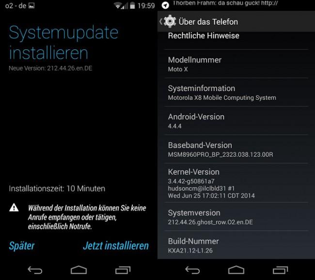 Moto X 4.4.4 Update