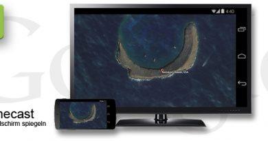 Chromecast Bildschirm übertragen