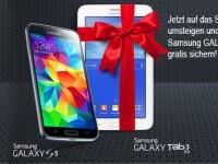 Ein Samsung Galaxy S5 kaufen und ein Galaxy Tab 3 7.0 gratis!