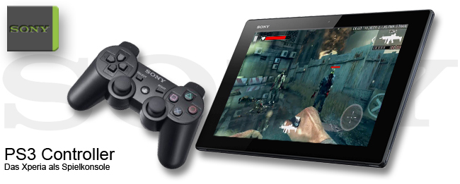 PS3 Controller am Sony Xperia