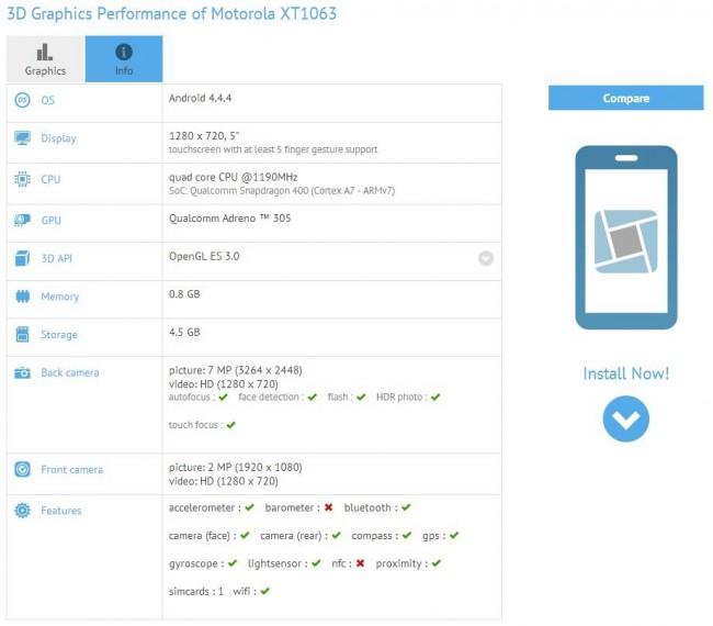 Motorola Moto G 2 Leak