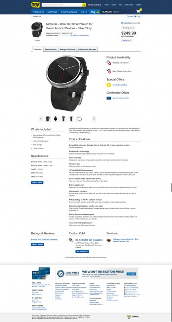 Motorola Moto 360 Best Buy Leak