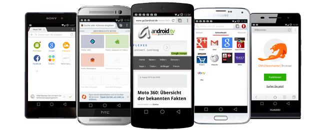 Android Internet Browser Top5