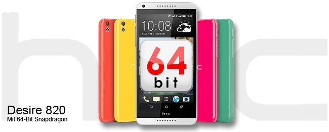 HTC Desire 820 mit 64-Bit-Prozessor