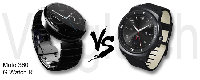 Motorola Moto 360 vs LG G Watch R