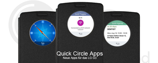 Quick Circle Apps für das LG G3