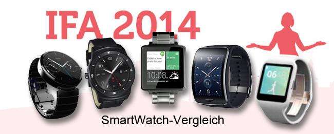 SmartWatch-Vergleich IFA 2014