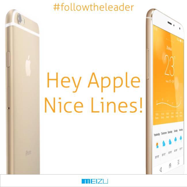Meizu gegen iPhone 6