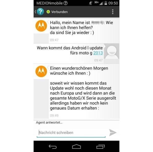 Android L für Motorola