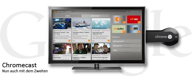 ZDFmediathek auf dem Chromecast