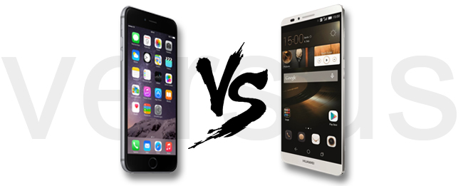iPhone 6 Plus vs. HUAWEI Ascend Mate 7