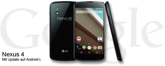 Android L für das Google Nexus 4