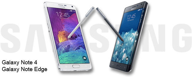 Samsugn Galaxy Note 4 und Galaxy Note Edge