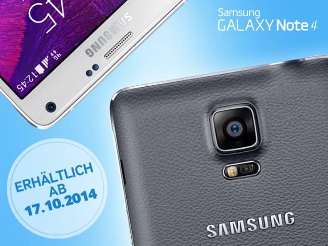 Samsung Galaxy Note 4 Deutschlandstart