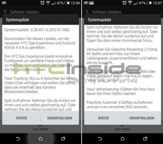 HTC One M8 Update mit HTC EYE Experience