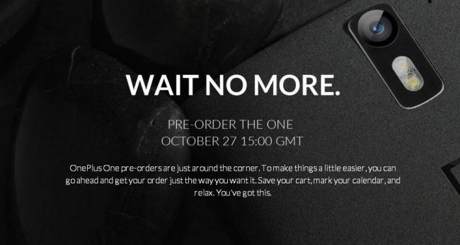 OnePlus One Vorbestell-Phase