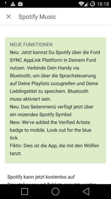 Spotify Update