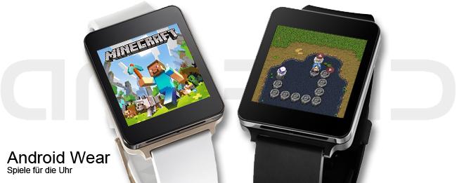 Minecraft und Tales of Pocoro für Android Wear