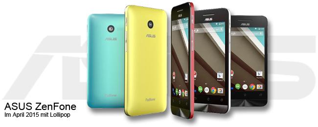 ASUS ZenFone bekommt Android 5.0 Lollipop