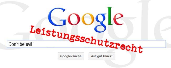 Google und Leistungsschutzrecht