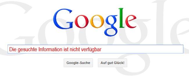 Google Recht auf Vergessen