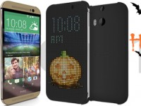 HTC mit Halloween-Scherz im Dot View Case
