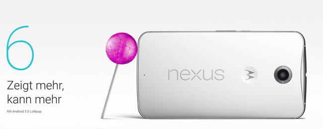 Android 5.1 Lollipop für das Motorola Nexus 6
