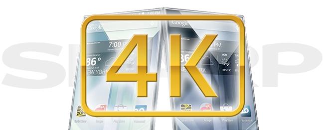 Sharp 4K Smartphone-Display