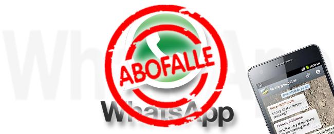 WhatsApp Abo-Falle