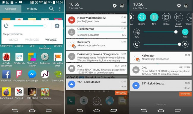 LG G3 Screenshots mit Android 5.0 Lollipop