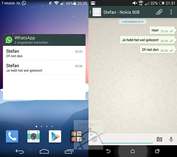 WhatsApp und der blaue Haken