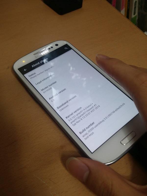 Samsung Galaxy S3 mit Android 5.0 Lollipop