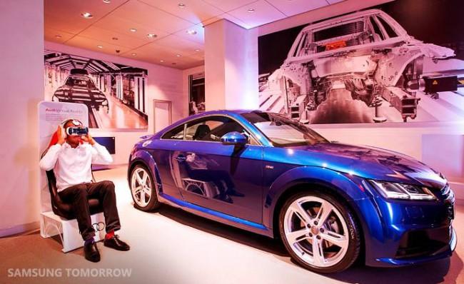 Samsung Gear VR und der Audi TTS Coupe