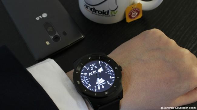 LG G Watch R mit Aviator WatchFace