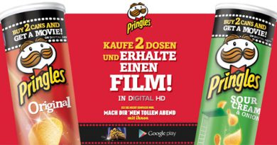 Pringles Google Play Movies Aktion