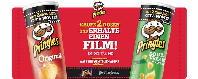 Pringles Google Play Movies Aktion