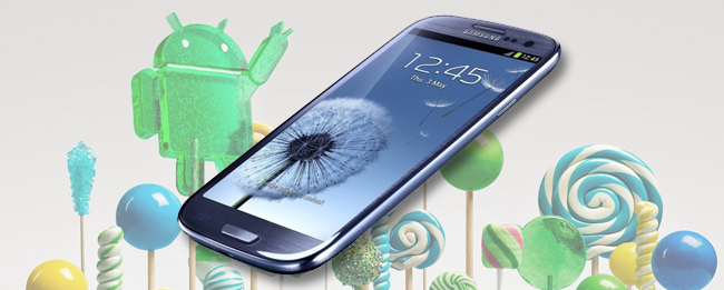 Samsung Galaxy S3 mit Android 5.0 Lollipop